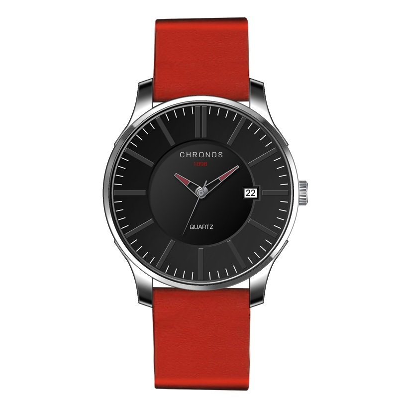 Prince Chronos Leather Watches Red.jpg
