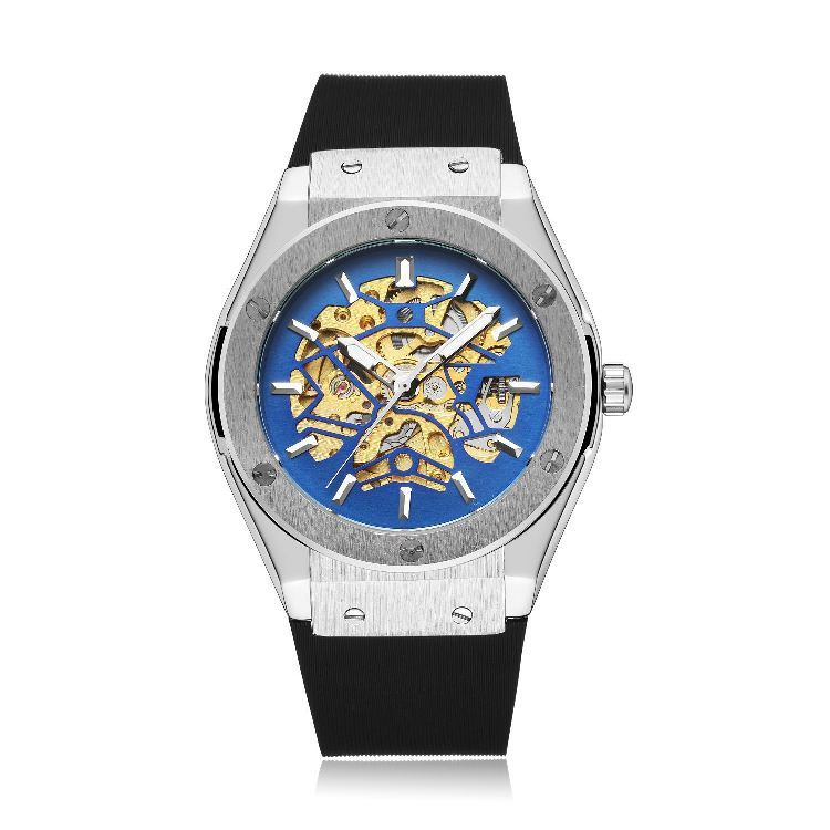Mechano Mechanical Watches Sliver Blue.jpg