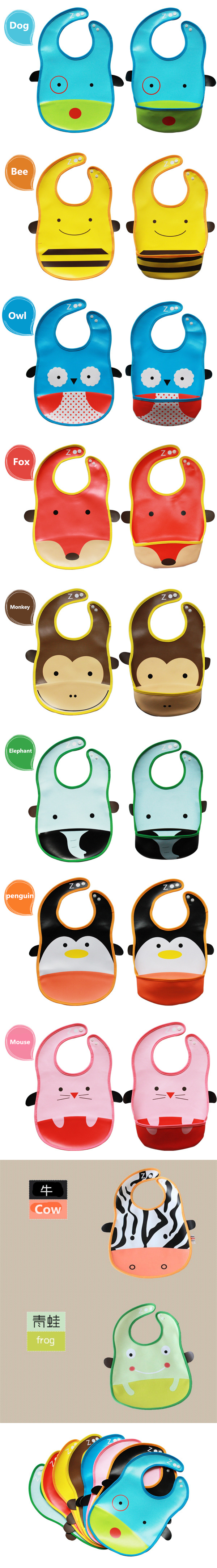 Little B House PVC Baby Bib Waterproof (Wipe-clean quality) -BB04-Mouse