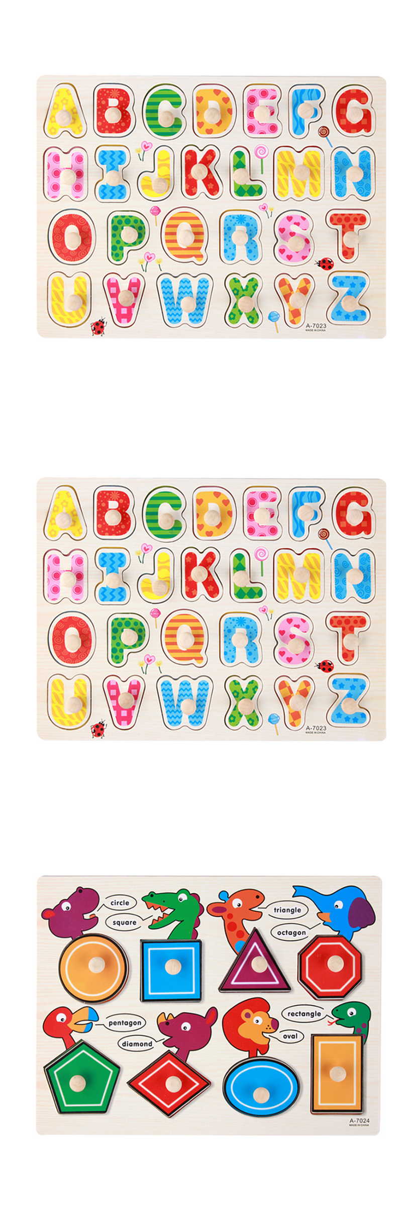 Little B House 1 pcs Preschool Educational Wood Puzzle - Alphabet & Mathematics -BKM38-C-Numbers