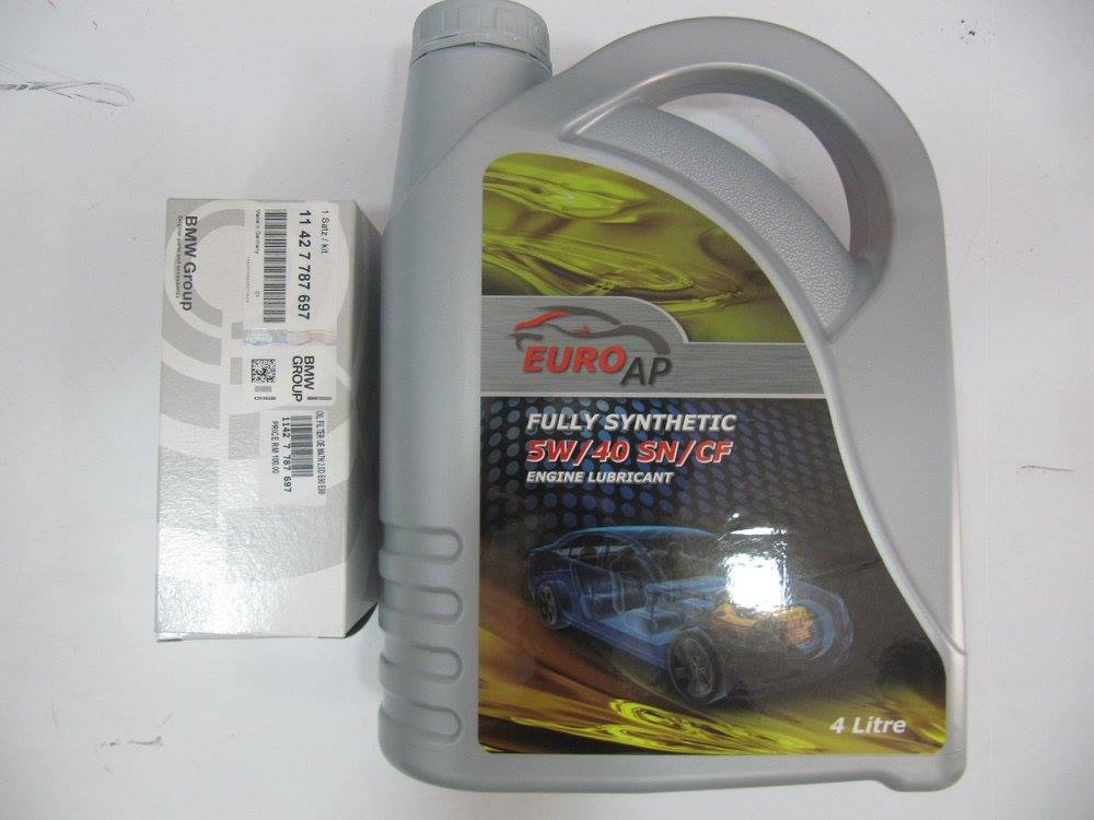 BMW E90 3SERIES ENGINE OIL SERVICE KIT 323 325 - 7LITRES RM 460.jpg