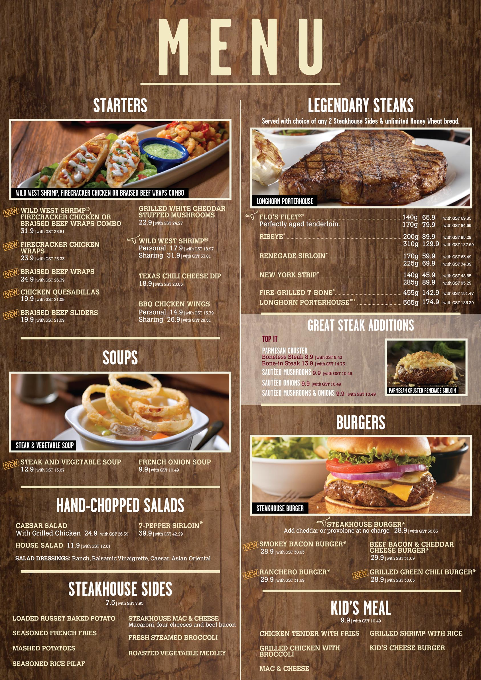 Keto menu at longhorn steakhouse