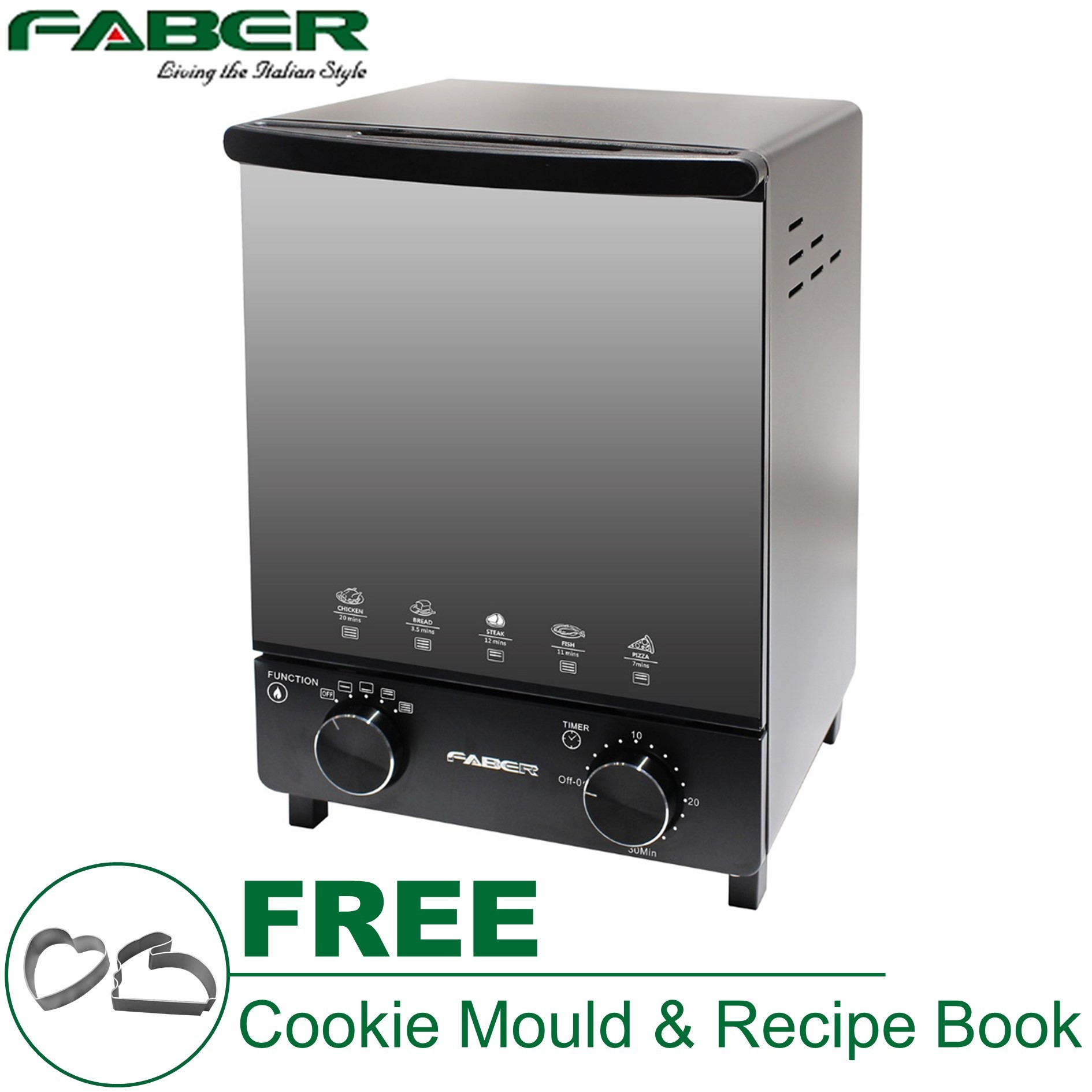 Kitchen Small Appliance Stores Faber 12l Electric Oven Toaster Feo Cuisine 12 Bk Free Gifts
