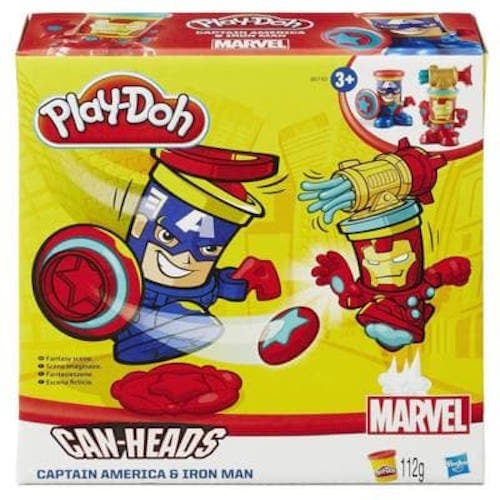 PLAY-DOH MARVEL CAN-HEADS FEATURING IRON MAN AND CAPTAIN AMERICA .jpg