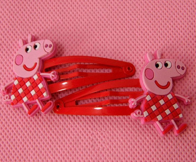 Peppa Pig Hairclip (Red White Grid).png