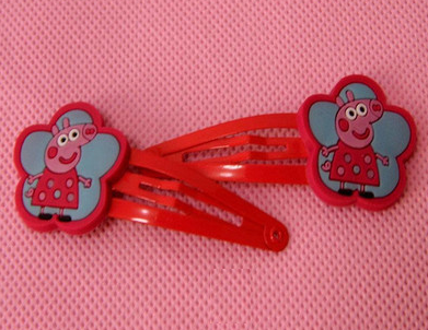 Peppa Pig Hairclip (Red Flower).png