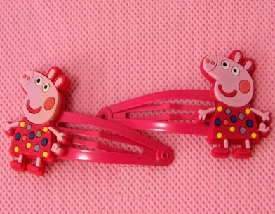 Peppa Pig Hairclip (Colorful Polka).png