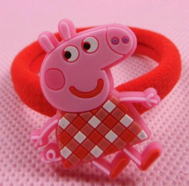 Peppa Pig Rubber Band (Red White Grid).png