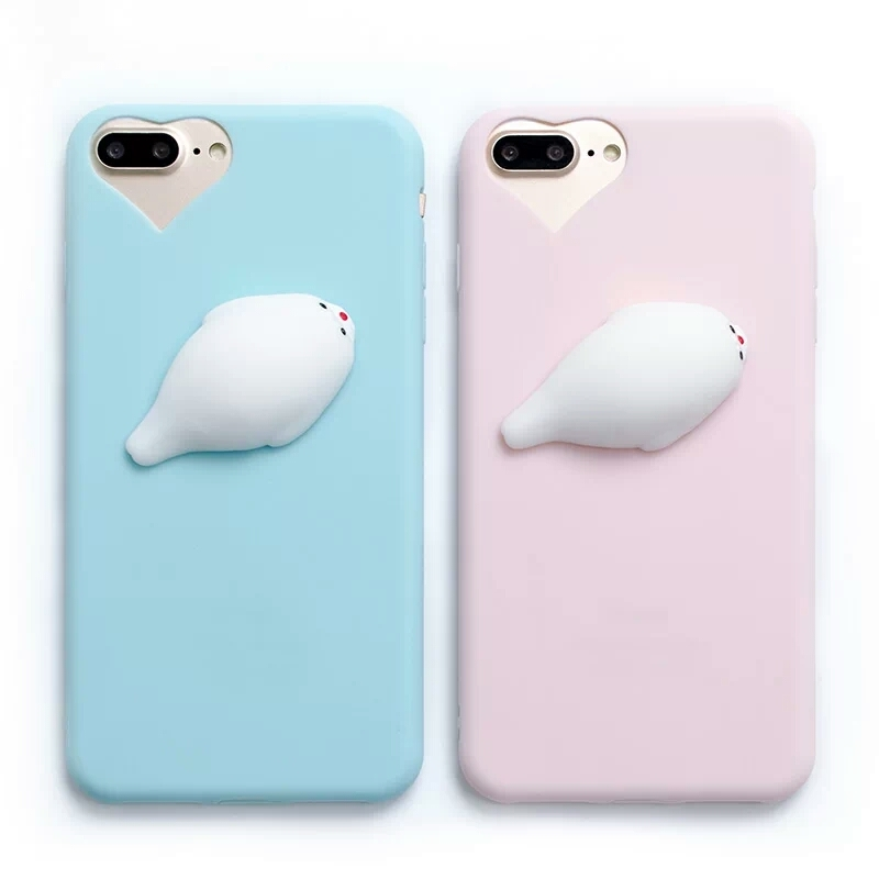 CL1498 - Squishy Seal Phone Case (Solid Color) (IPhone, Huawei) ? OHTEMPTATIONS