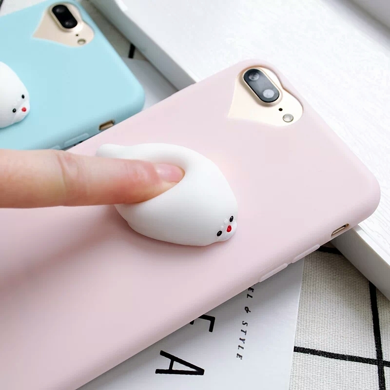 Squishy Animals For Phone : CL1498 - Squishy Seal Phone Case (Solid Color) (IPhone, Huawei) ? OHTEMPTATIONS