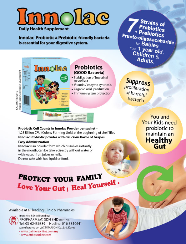 Innolac Probiotic Daily Health Supplement (4 Boxes)