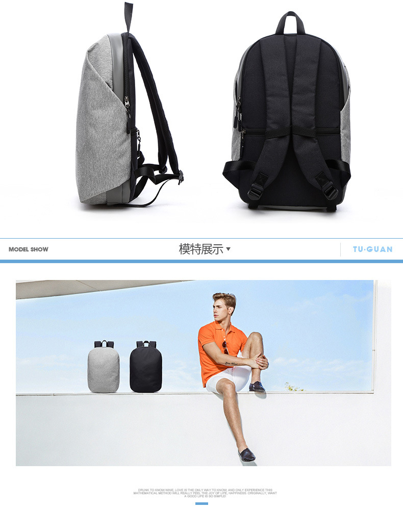Laptop bags korea - Anti Theft Travel Backpack Korean Style And Attractive Design Available In Grey And Black