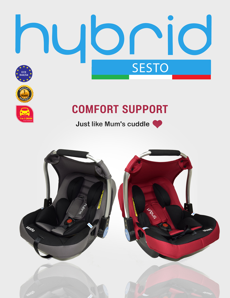 hybrid sesto infant carrier car seat nb 1 year old 13kg bump n bambino. Black Bedroom Furniture Sets. Home Design Ideas