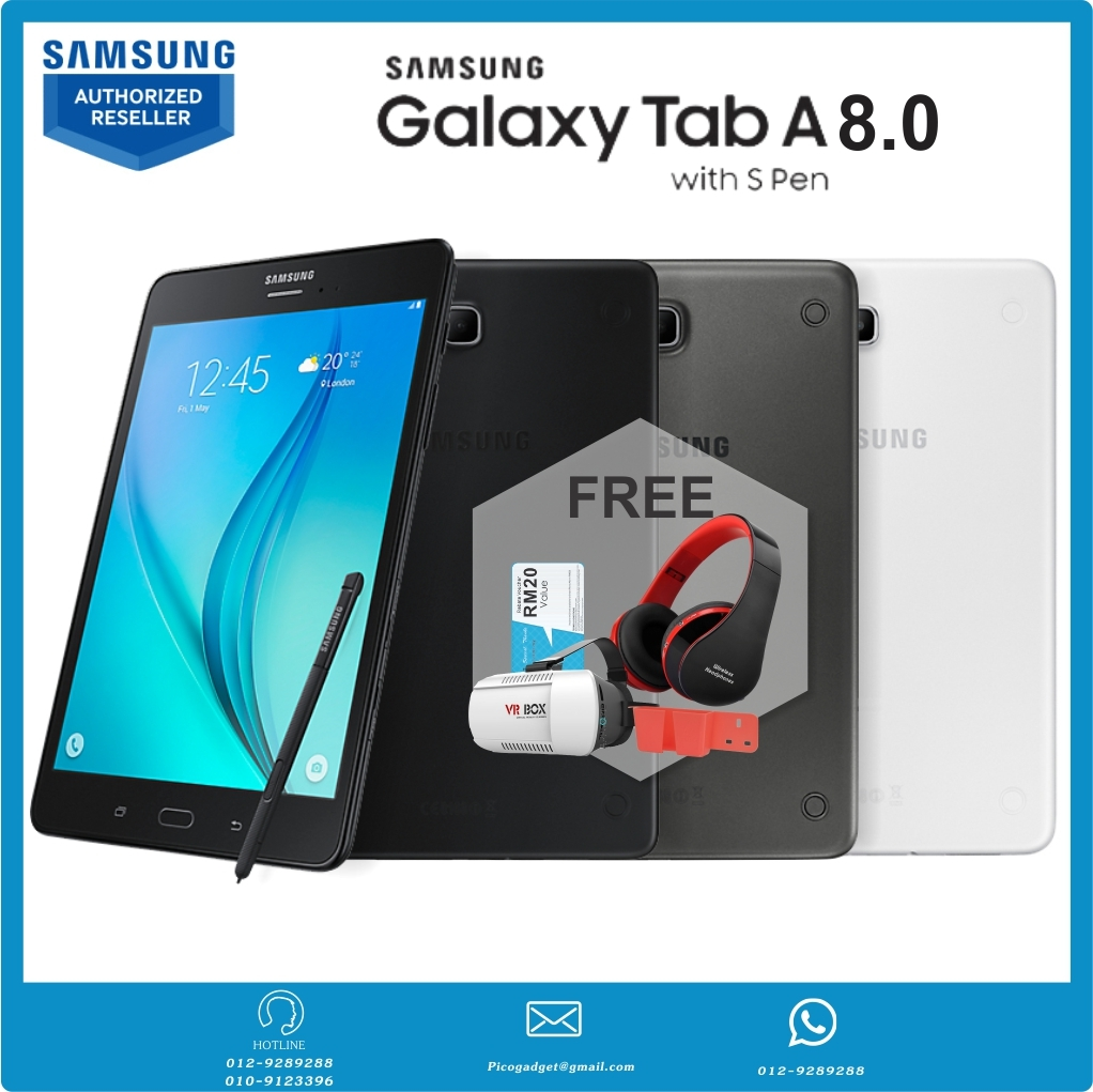galaxy tab a with s pen 8 0 lte pico gadget. Black Bedroom Furniture Sets. Home Design Ideas