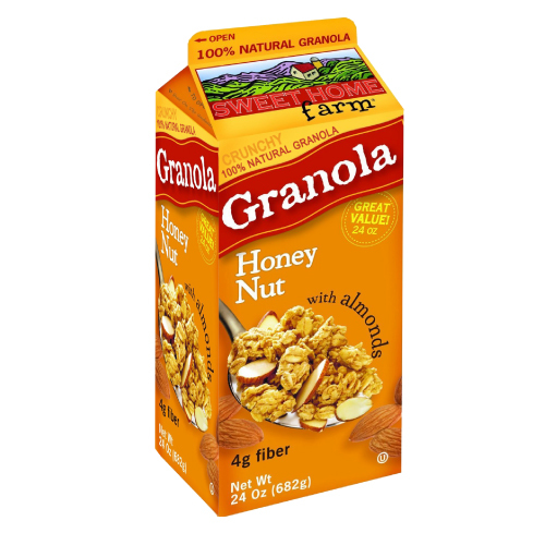 Sweet Home Farm Honey Nut Granola with Almonds (682g)