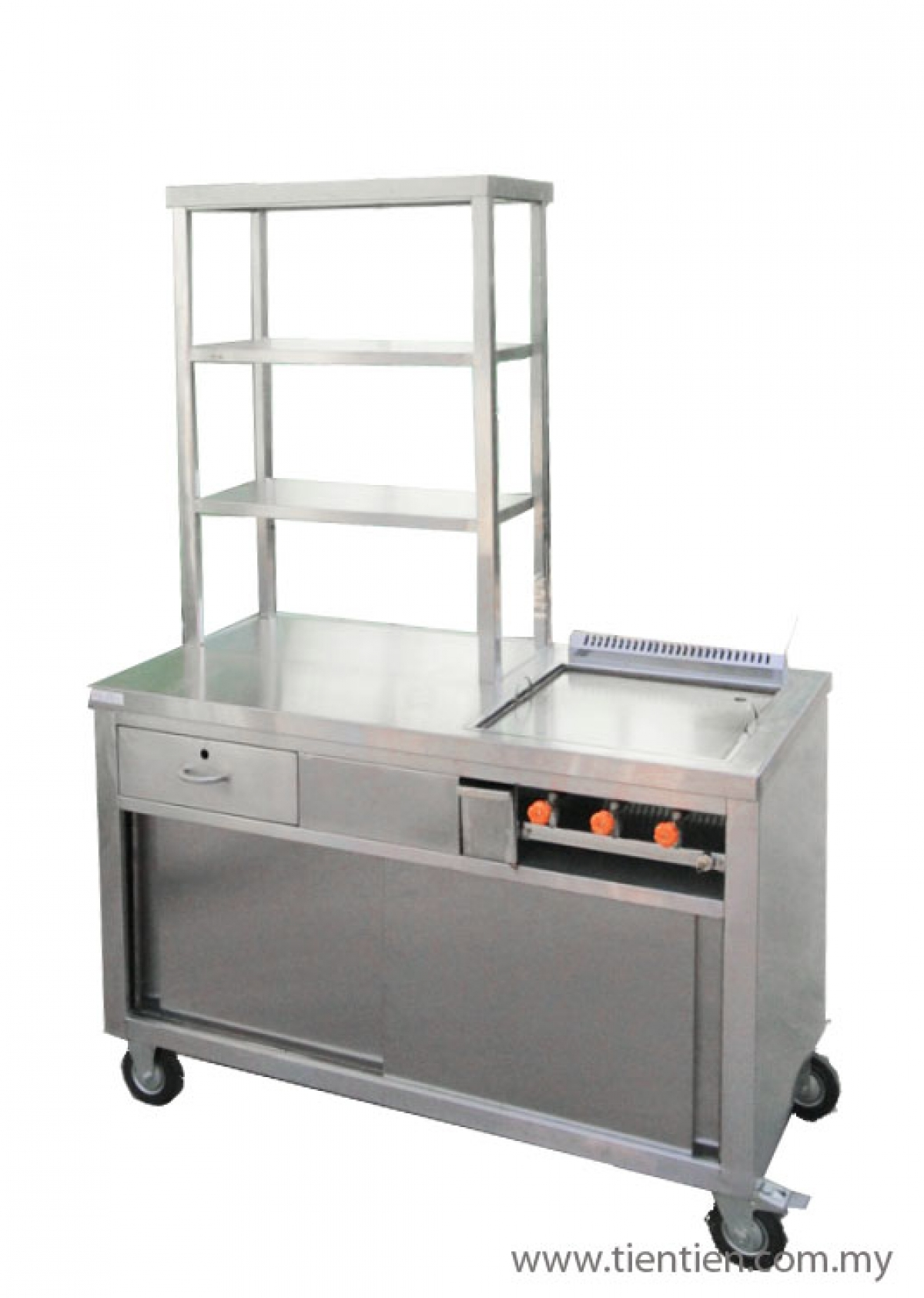 Stainless steel burger stall tien tien kitchen equipment for I kitchen equipment