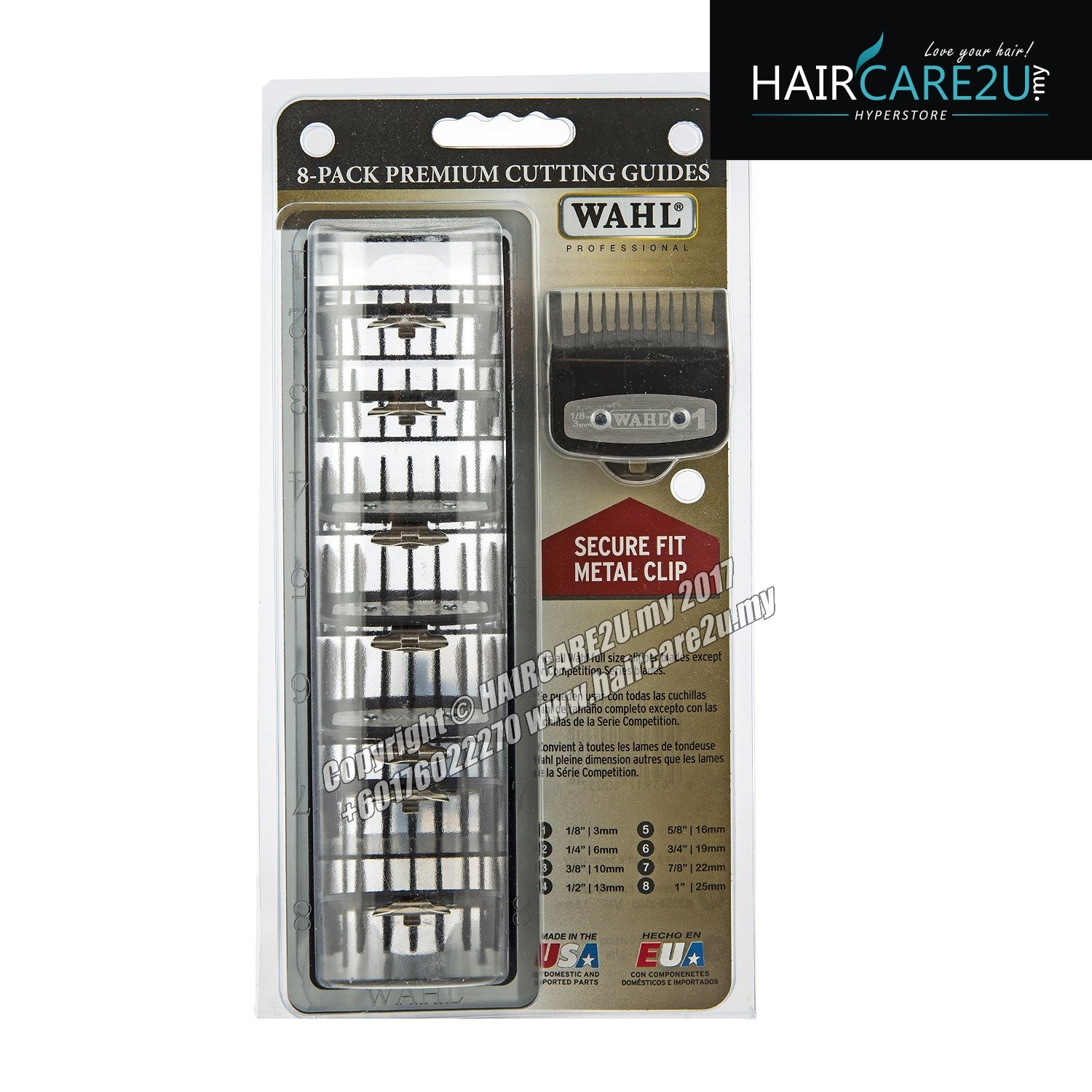 wahl barber 10 pack premium cutting guide attachment comb online store hair. Black Bedroom Furniture Sets. Home Design Ideas
