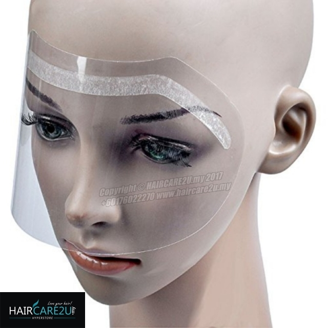 100pcs Barber Hair Salon Hairspray Mask for Forehead Eyes & Face Protector Disposable Face Shield 4.jpg