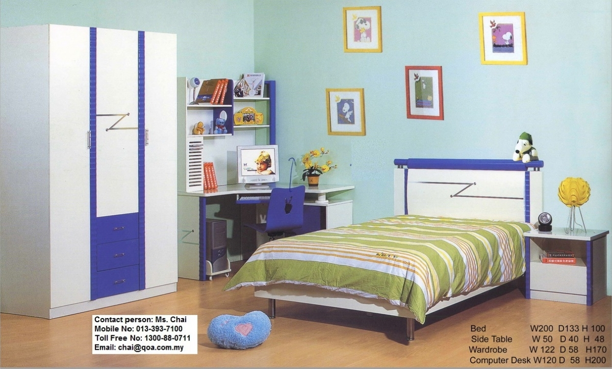 Kid bedroom full set model qoa ch my863 furnitures malaysia - Simple bedroom full set ...