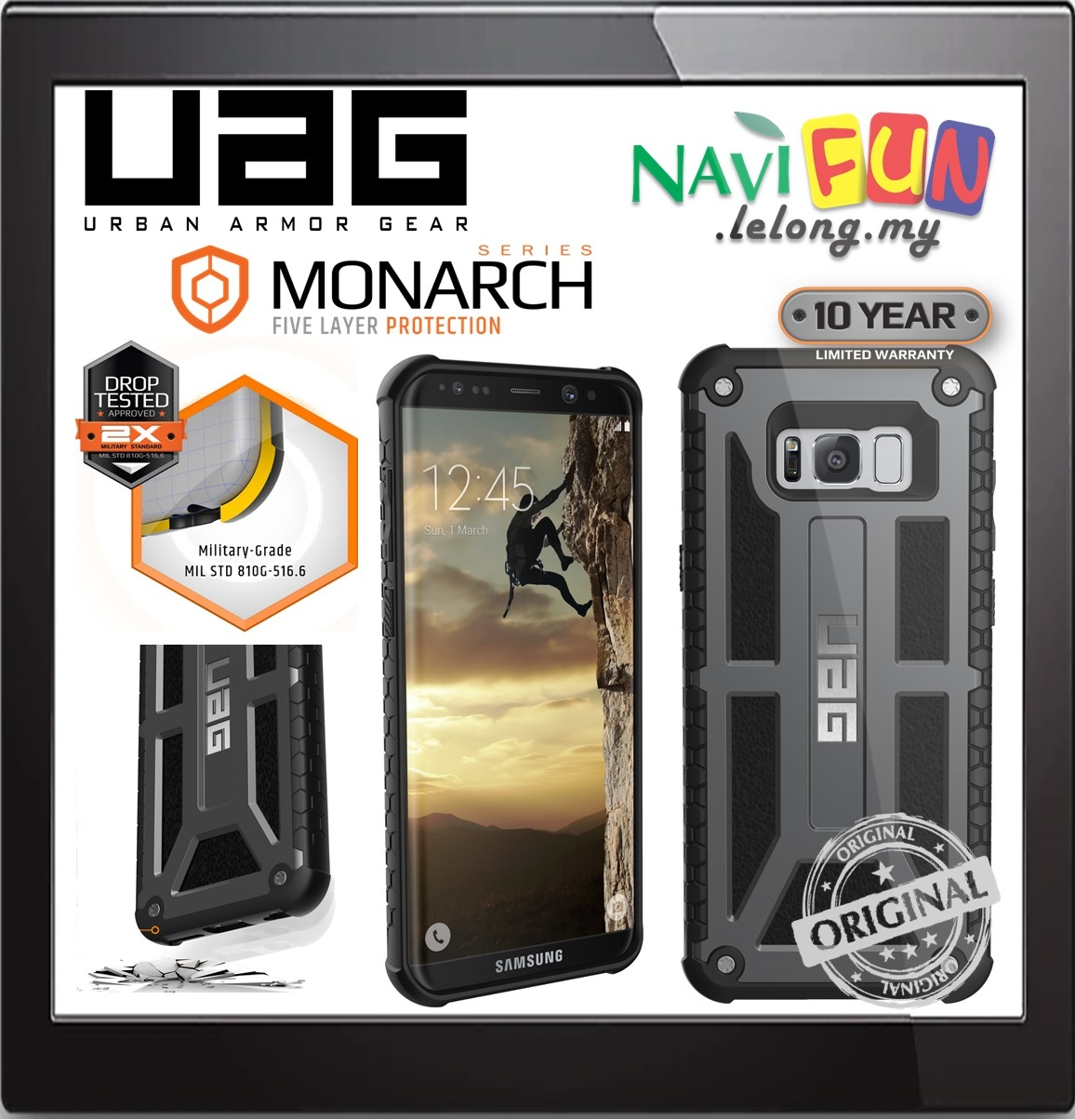 Galaxy s6 cases shop samsung cases online uag urban armor gear - Urban Armor Gear Uag Monarch Case Samusng S8 Plus