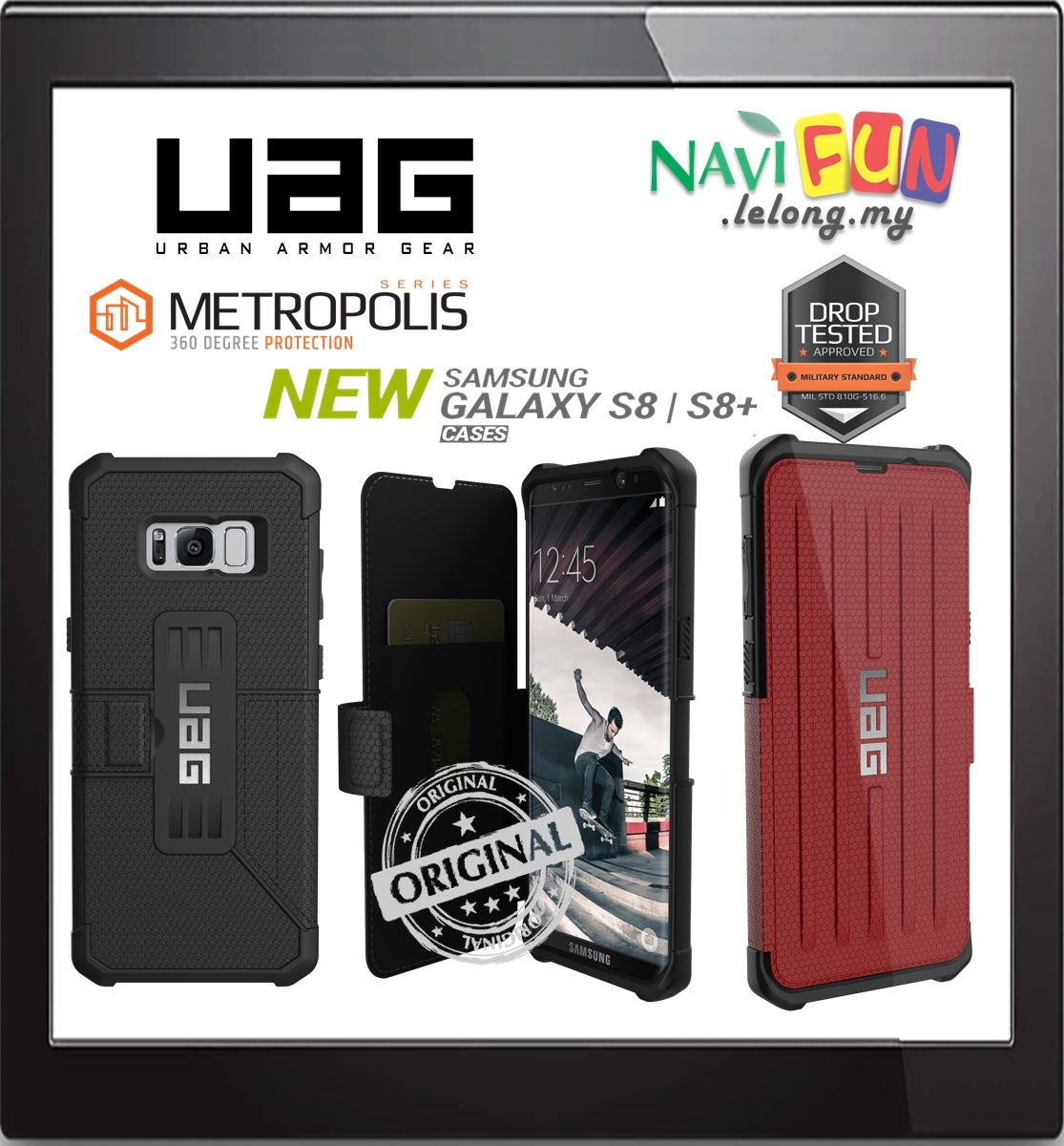 Galaxy s6 cases shop samsung cases online uag urban armor gear - Urban Armor Gear Uag Metropolis Folio Case Samusng S8 Plus