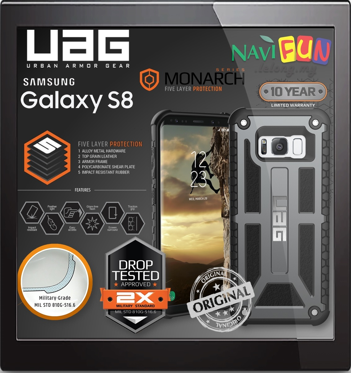 Galaxy s6 cases shop samsung cases online uag urban armor gear - Urban Armor Gear Uag Monarch Case For Samsung Galaxy S8