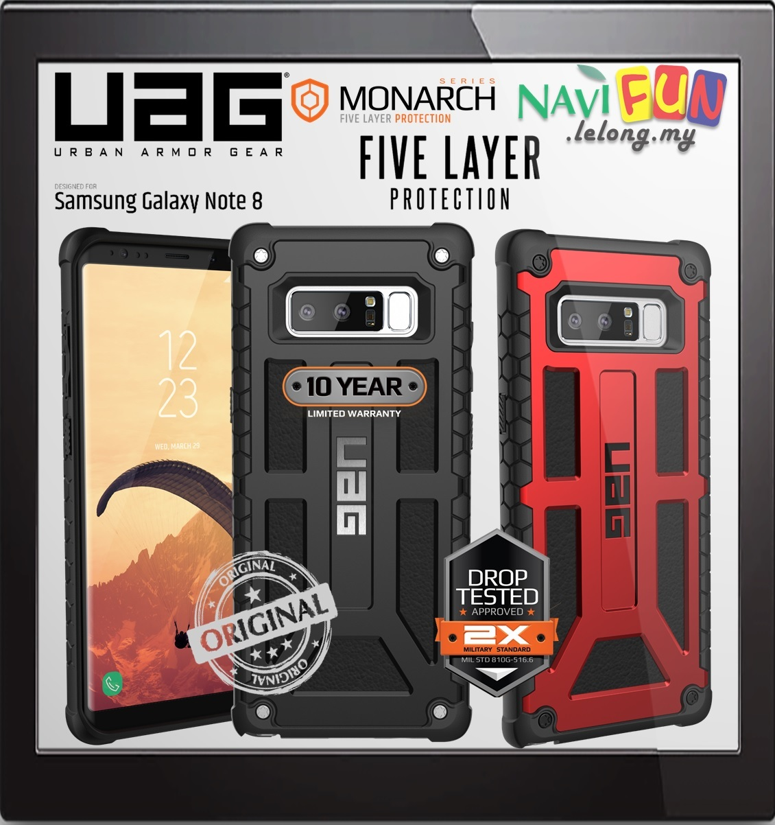 Galaxy s6 cases shop samsung cases online uag urban armor gear - Urban Armor Gear Uag Monarch Case For Samsung Galaxy Note 8