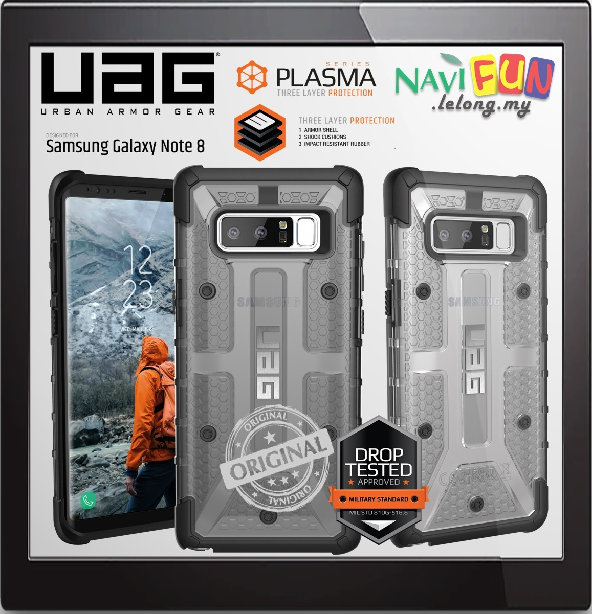 Galaxy s6 cases shop samsung cases online uag urban armor gear - Urban Armor Gear Uag Plasma Case Samsung Galaxy Note 8