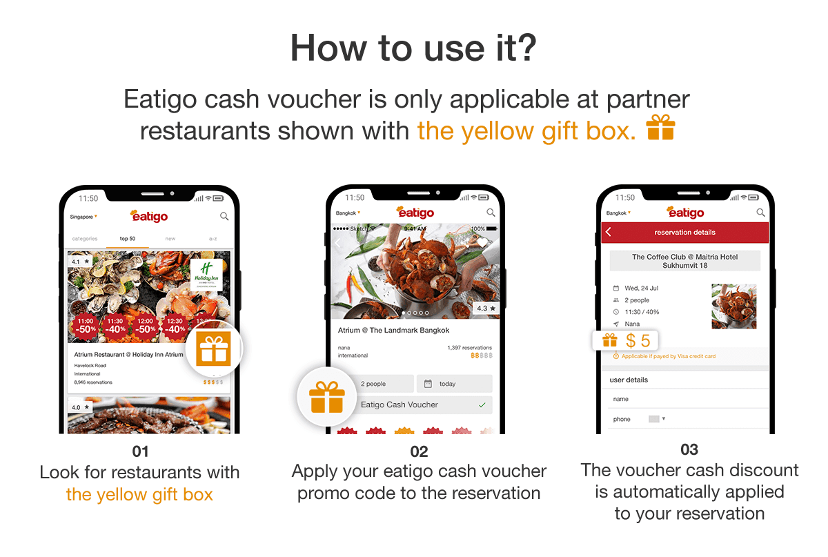 Get an instant additional $10 off your dining bill from 7th-11th March 2020! 1