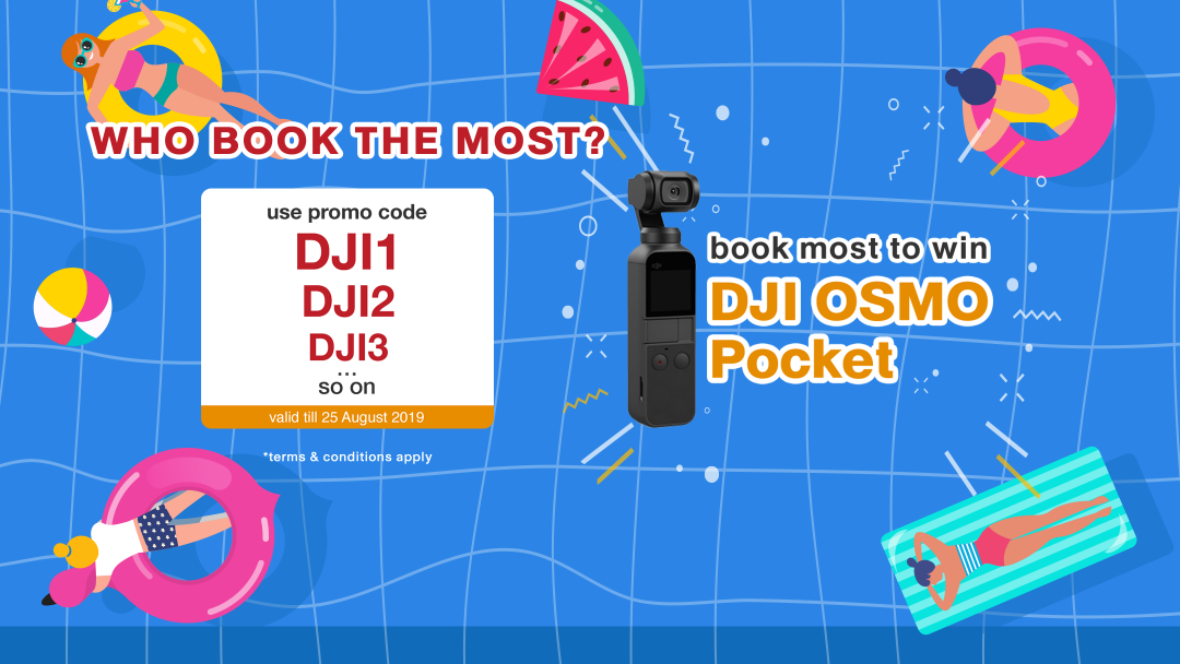 【DJI】WHO BOOKS THE MOST? Book to win a OSMO Pocket! 6