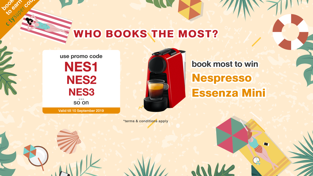 【Nespresso】WHO BOOKS THE MOST? Book to win an Essenza Mini! 4