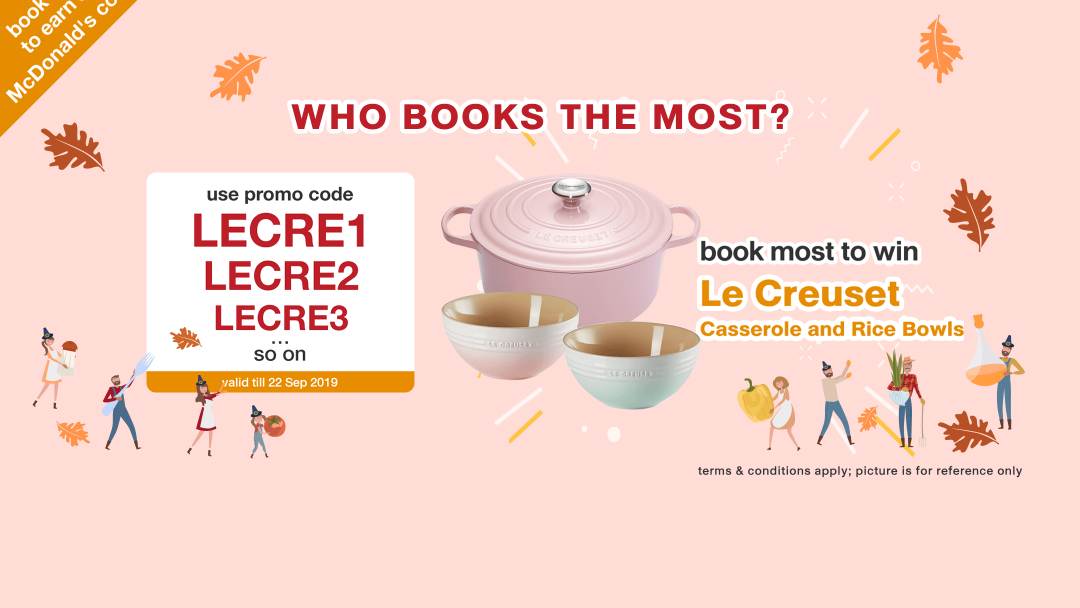 【Le Creuset】WHO BOOKS THE MOST? Book to win a kitchenware set of Le Creuset! 18