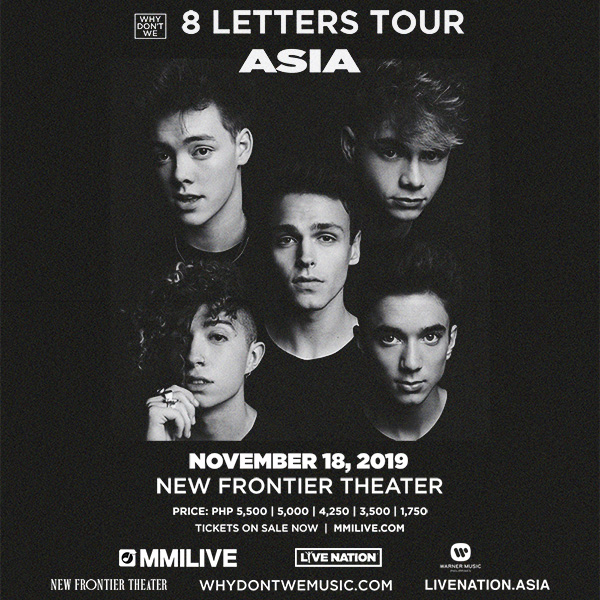 Why Don't We 8 Letters Tour Live in Manila x Eatigo Giveaway 1