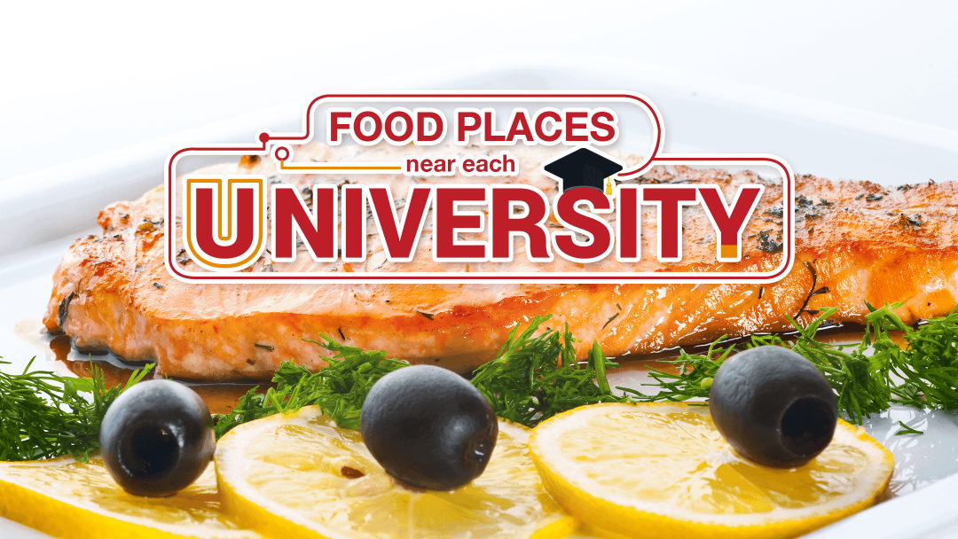 Food places near each university 13
