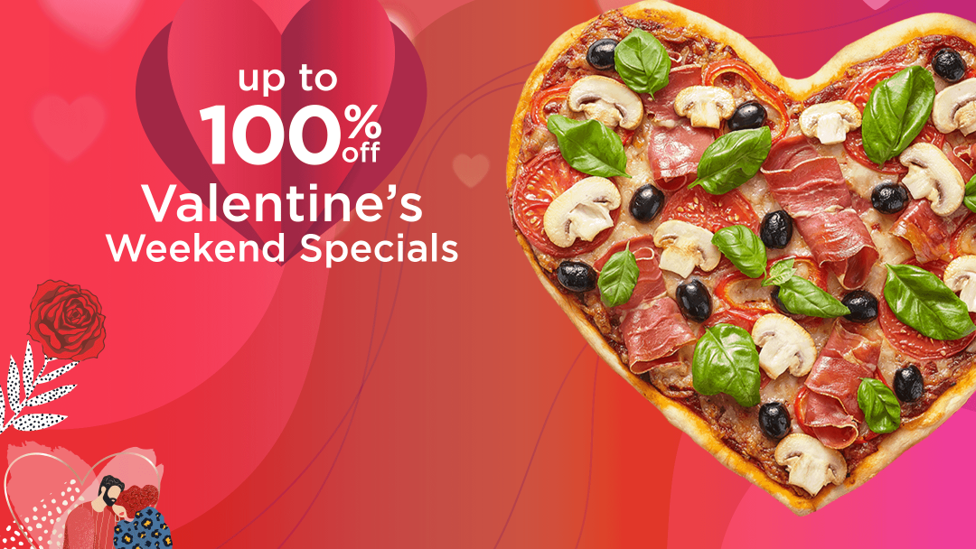 Get up to 100% off this Valentine's Weekend 12