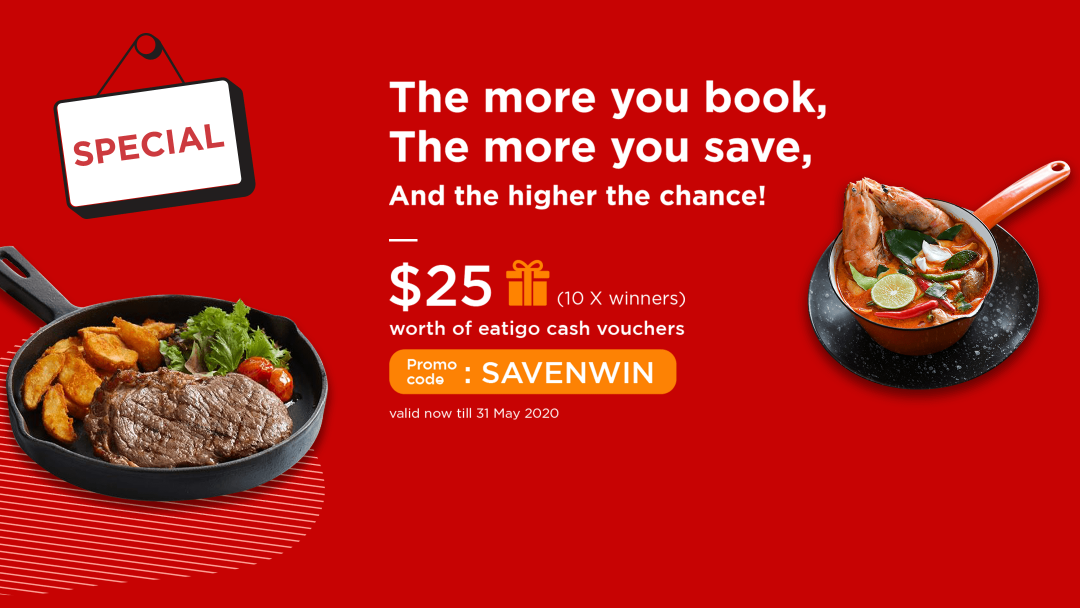 【SAVENWIN】RAFFLE: Book, save and win $25 cash vouchers! 8