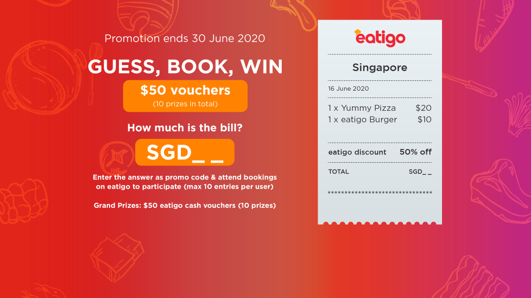 "【SGD _ _ 】""Guess, Book, Win"" Giveaway Campaign 6"