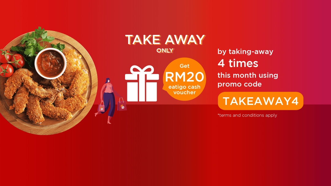 Attend FOUR takeaway reservation with promo code this April to receive RM20 Eatigo Cash Voucher! 14