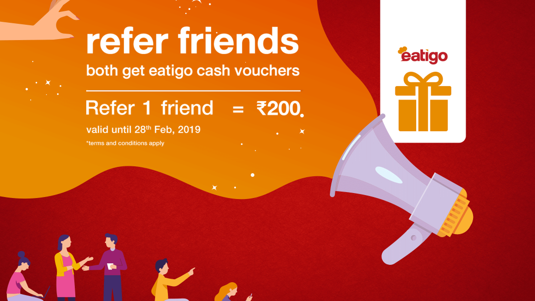 Earn twice the amount of eatigo cash vouchers this February! 4