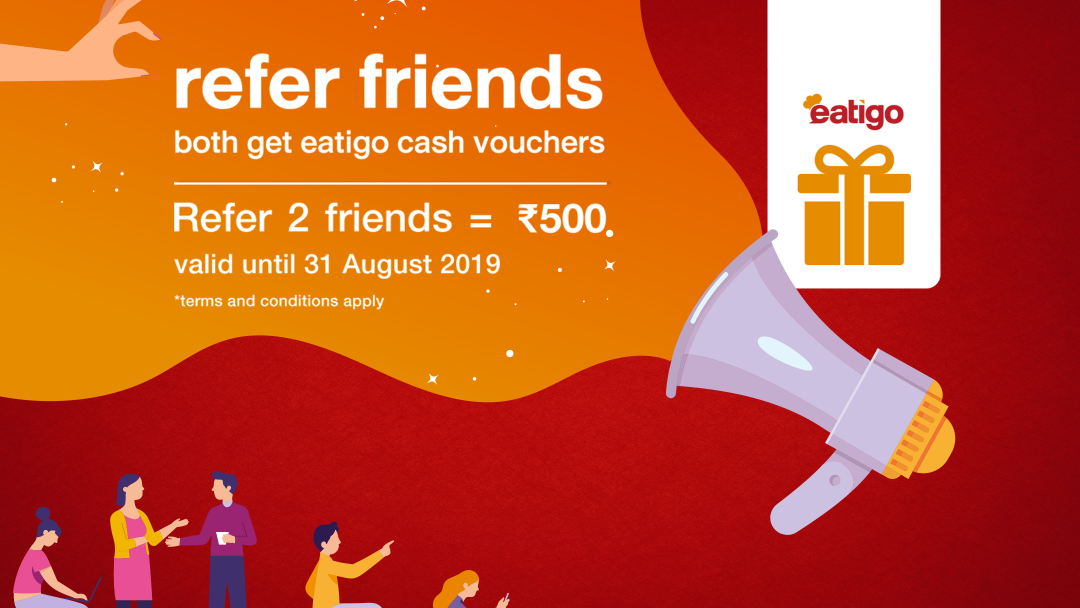 Earn twice the amount of eatigo cash vouchers this August! 10