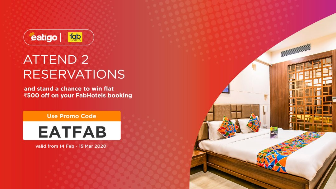 Flat ₹500 off on FabHotel booking! Make 2 reservations and stand a chance to win!! 2