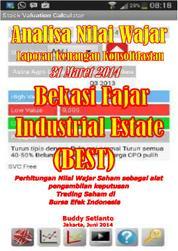 Cover ANALISA NILAI WAJAR SAHAM TECHNICAL & FUNDAMENTAL ANALYSIS LAPORAN KEUANGAN 31 MARET 2014 Bekasi Fajar Industrial Estate oleh