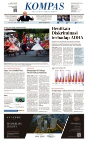 KOMPAS Cover 22 July 2019