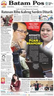 Batam Pos / 23 MAR 2018