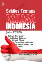 Cover Sekilas Tentang Bahasa Indonesia oleh
