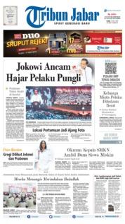 Cover Tribun Jabar / 15 JUL 2019