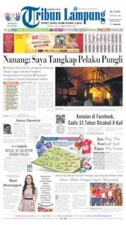 Cover Tribun Lampung / 16 JUL 2019