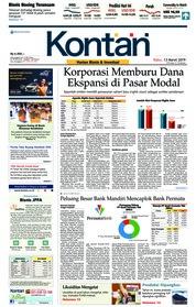Cover Koran Kontan 13 Maret 2019