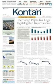 Cover Koran Kontan 20 Juni 2019