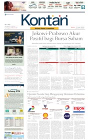 Koran Kontan Cover 15 July 2019